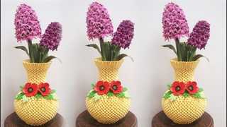 3D Origami Flower Vase V17 Tutorial | DIY Paper Vase Home Decor
