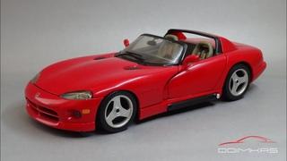 Dodge Viper RT/10 Roadster 1992 || Bburago - Made In Italy || Масштабные модели автомобилей