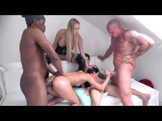 [ / ] Freya Dee 4on1 Piss Double Penetration, Dominatrix, Piss drinking and facial cumshot NF040