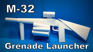 Origami Gun M32 | How to Make a Paper M32 Grenade Launcher | Easy Origami ART Paper Crafts