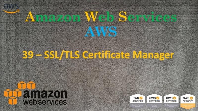 39.AWS - SSL/TLS Certificate Manager - HTTP и HTTPS