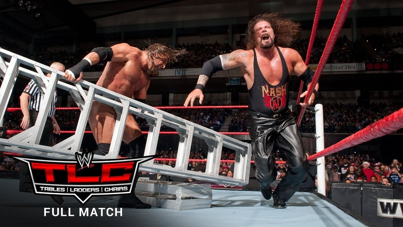 FULL MATCH Triple H vs Kevin Nash Sledgehammer Ladder Match WWE TLC 2011