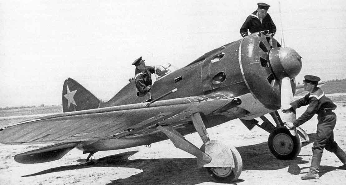 Истребитель И-16 для флота