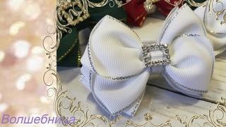Бантики из репсовых лент своими руками/DIY ribbon bows