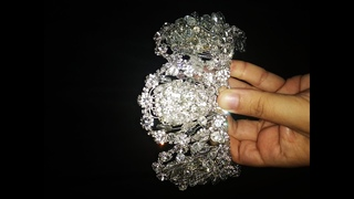 How to make wedding crystal crown - DIY (7)