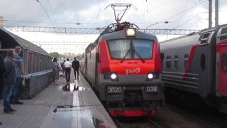 Электровоз ЭП20-038 с поездом№104В Адлер-Москва станция Москва-Пасс. Казанская