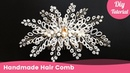 Bridal Beaded Hair Comb for Wedding Handmade Hair Accessories for Beginners