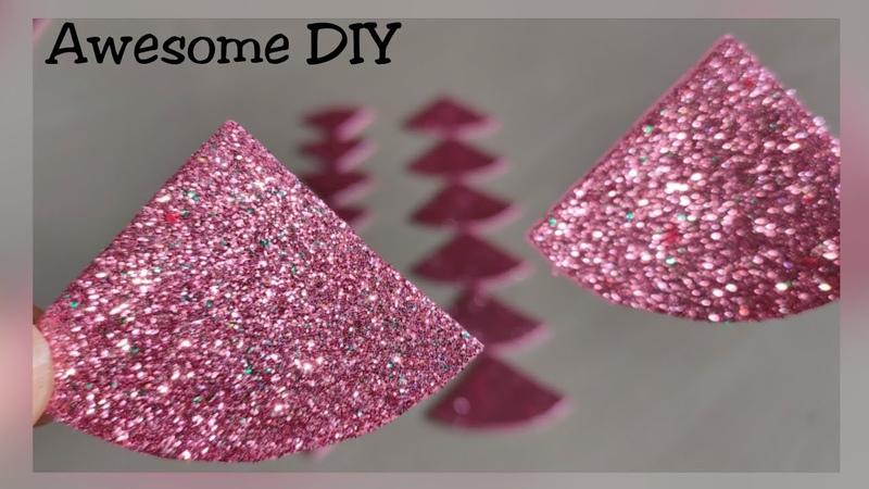 DIYGlitter foam sheet craft ideaFoamiran flower tutorialArt CraftCraft for kidsHair accessori