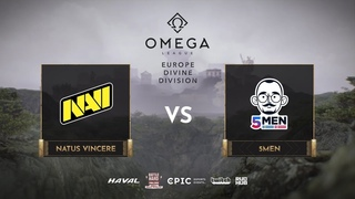 Natus Vincere vs 5men, OMEGA League: Europe, bo3, game 2 [Maelstorm & Bobruha]