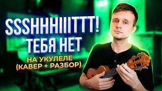САМАЯ КРАСИВАЯ и ГРУСТНАЯ ПЕСНЯ на УКУЛЕЛЕ : ssshhhiiittt! - тебя нет (кавер + разбор)