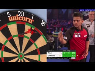 Steve West vs Amit Gilitwala (PDC World Darts Championship 2021 / Round 1)
