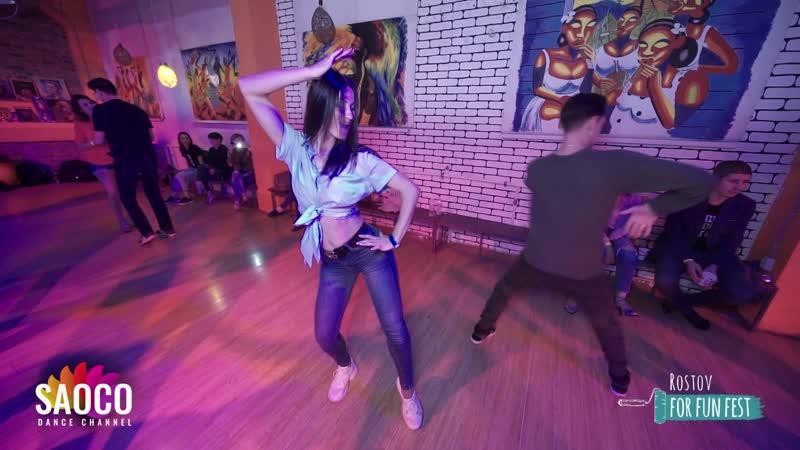 Max Vdovchenko and Lolita Lirola-Sanches Salsa Dancing at Rostov For Fun Fest (Russia), Sunday 03.11.2019