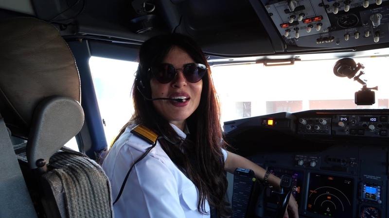 EGYPTAIR'S ALL-FEMALE CREW flight to Athens