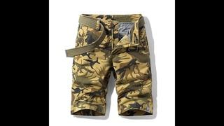 Мужские камуфляжные шорты карго с несколькими карманами, 100% хлопок, 1121