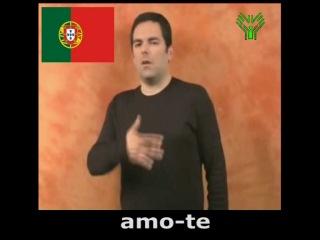 Я тебя люблю на языке жестов