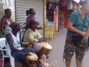 Belizean street band and Dr Kexy.