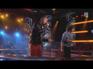 Thomas Gregersen og Robin Lomax Bjerke i duell i The Voice
