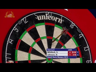 Simon Whitlock vs Darren Johnson (Dutch Darts Masters 2013 / First Round)