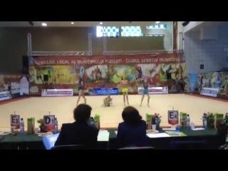 Ana Luiza Filiorianu, Alice David, Klemi Adamosi and Denisa Mailat в Sala Sporturilor Olimpia Ploiesti