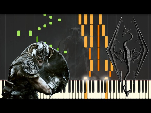 Skyrim - Main Theme [Piano Tutorial] (Synthesia) Kyle Landry SHEETS/MIDI