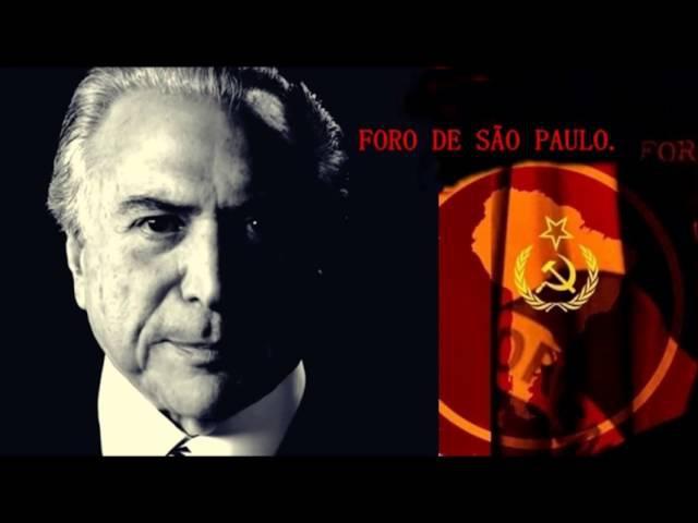 Audio Michel Temer fala de parceria com Foro de São Paulo