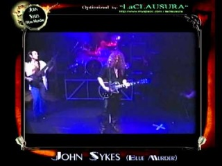 """JOHN SYKES (BLUE MURDER) """"LIVE in L.A. 1995""""  *(Full Concert, Optimized by LaCLAUSURA_2011)"""