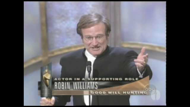 Robin Williams Wins Supporting Actor 1998 Oscars