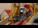 RC truck excavator transport to the construction site! Amazing stuff!