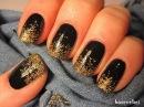 New Years Eve glitter gradient on black nails Sylwestrowe paznokcie Basevehei
