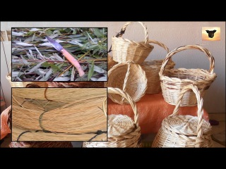 Процесс плетения. Один человек - одна корзинка