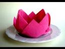 Servietten falten - Rose / Blüte / Blume - einfache Tischdeko selber machen. Origami