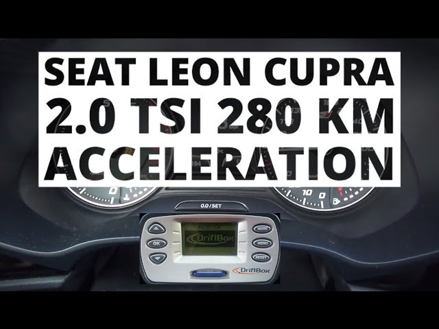 Seat Leon Cupra 280 2 0 TSI 280 hp DSG Разгон до 100 км ч NaZa5aske