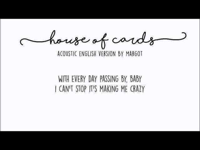 BTS House Of Cards acoustic english cover by Margot D R