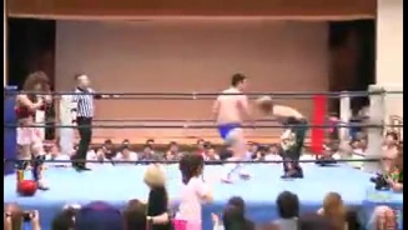 HAYATA Mio Shirai Vs M Ohata T Oosugi Vs Danshoku Dino T Fujimoto 7 12 15