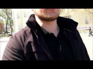 Пикеты у Горсовета  Одесса  Интервью со свободовцем