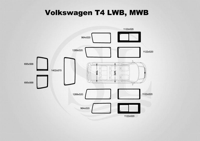 Транспортер т4 размер стекол купить авто в москве с пробегом фольксваген транспортер т5