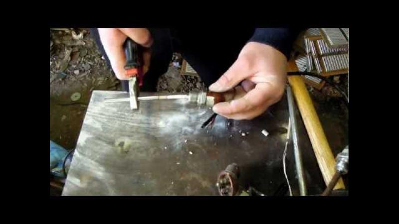 Видеоролик по извлечению с термопар ТСП платиновой и серебрянной проволки Часс