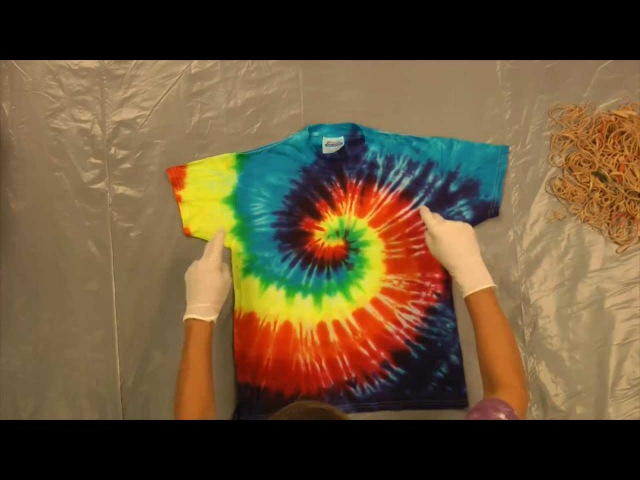 Jacquard Products Presents Tying and Dyeing the Centered Rainbow Spiral Pt 1