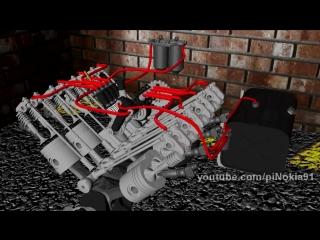 Система питания дизеля, на примере двигателя КамаЗ 740.