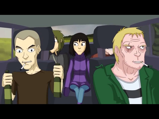 School 13 №15 The Story of Two Hitchhikers Школа 13 №15 История двух автостопщиков