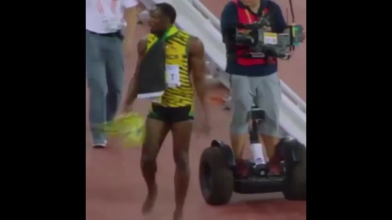Fell in a Bolt usainbolt hoverboard bolt falling Beijing cameraman