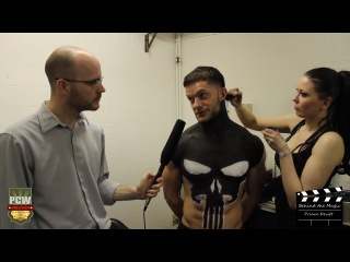 WWE NXT's Finn Balor (aka Prince Devitt) - Backstage Bodypaint Interview