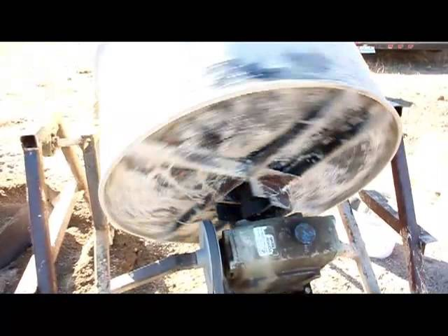 Homemade Cement Mixer Offgrid