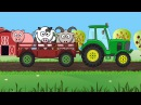 Мультфильм про Машинки Собираем силуэт Трактор и Животные Развивающий мультик для детей до 2 лет