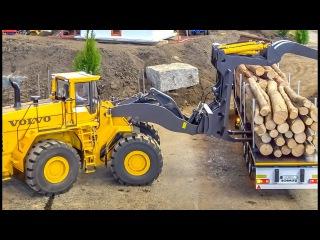 RC MONSTER! Huge Volvo wheel loader in GIANT 1/8 scale works hard!