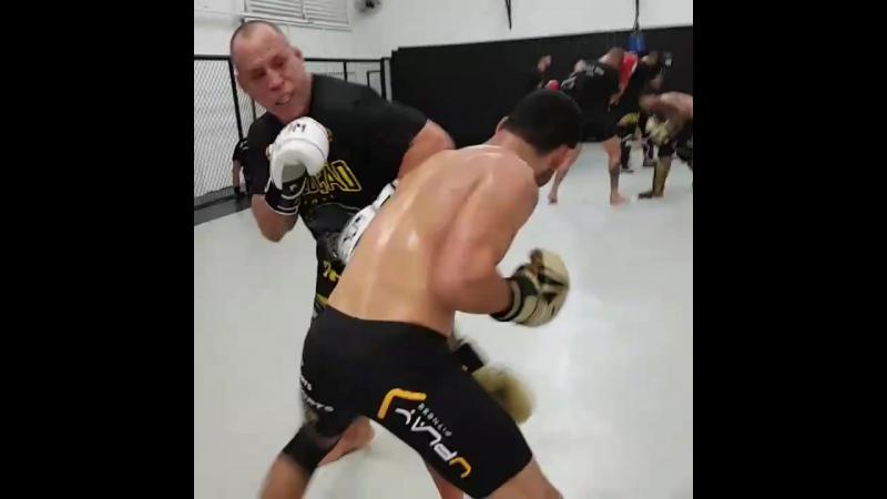 Вандерлей Сильва проводит спарринги в преддверии боя с Чейлом Сонненом