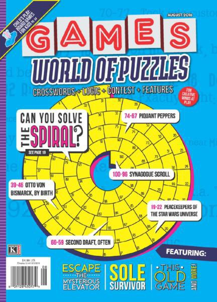 Games World of Puzzles - August 2016