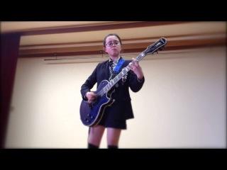 Audrey Plays Guitar + Rocksmith At Her Graduation Party
