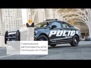 Гибридныи автомобиль для полиции от Ford