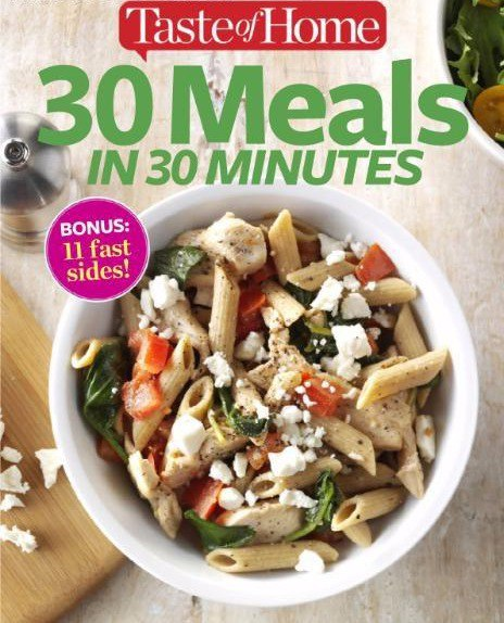 30 Meals in 30 Minutes - August 2016